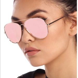 Accessories - BNWT - Rose Gold Aviator Sunnies